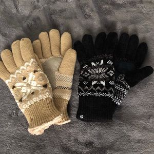 (2) isotoner gloves with inner lining